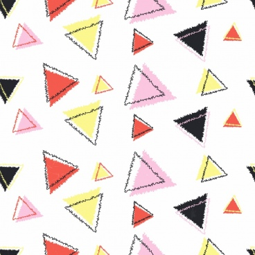 triangles background colorful repeating sketch