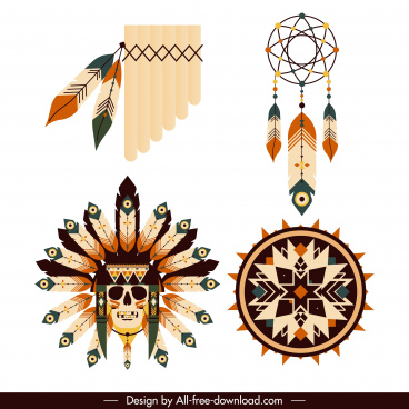 tribal america design elements traditional feathers decor