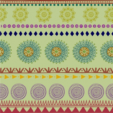 tribal pattern background colorful repeating boho style