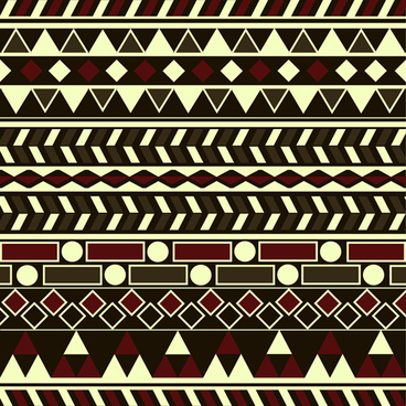 tribal pattern seamless borders vector