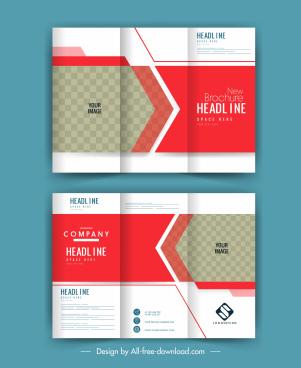 trifold brochure templates bright elegant checkered decor