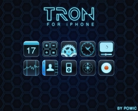 TRON for iPhone icons pack