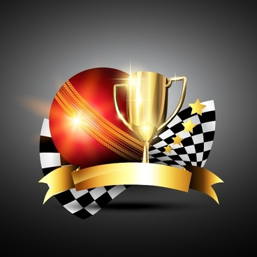 trophies gold star vector
