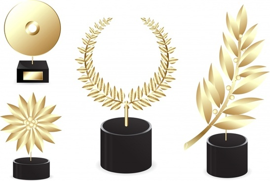 medal templates elegant golden 3d design