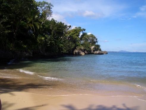 tropical beach sea