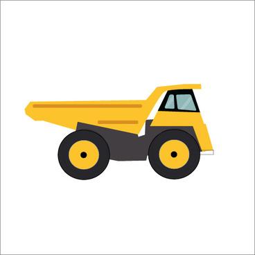 truck flat styles vector