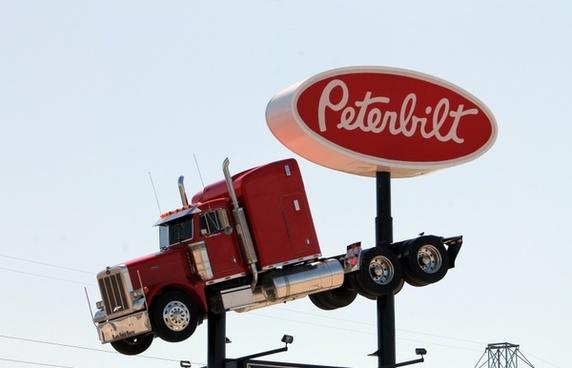 truck peterbilt sign