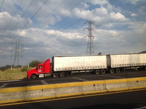 truck trailer double
