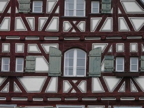 truss fachwerkhaus facade