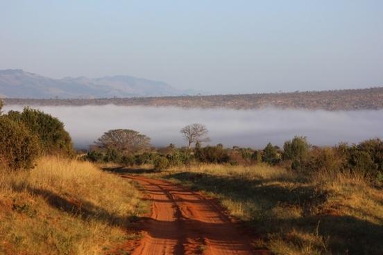 tsavo the landscape of the kenya
