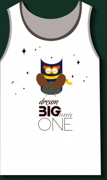 tshirt design dream design cute owl icon
