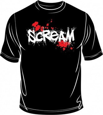 horror tshirt template black grunge decor