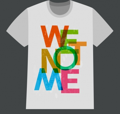 tshirt design young style colorful words decoration