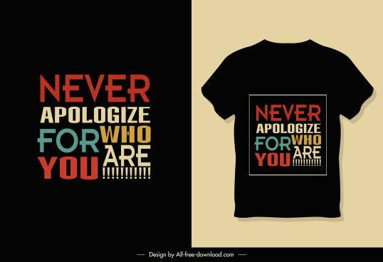 tshirt template dark design colorful wordings decor