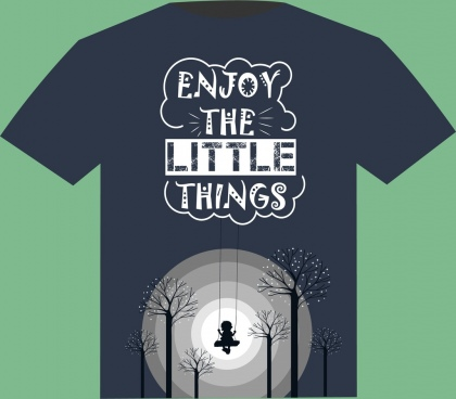 tshirt template dream design joyful kid moonlight decor