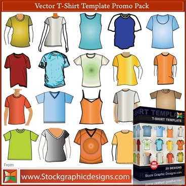 T–Shirt Template Free Vector Pack