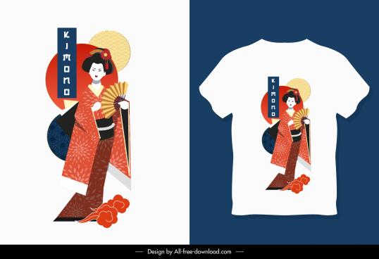 tshirt template kimono costume sketch bright design