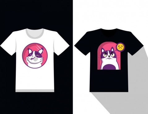 tshirt template pet theme decoration