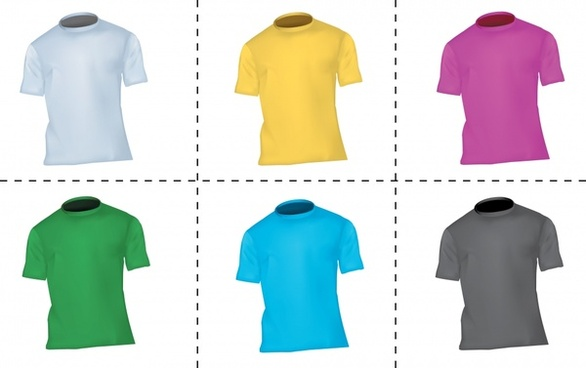 tshirt templates colored modern 3d design