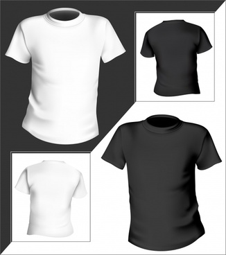 tshirt templates 3d modern black white decor