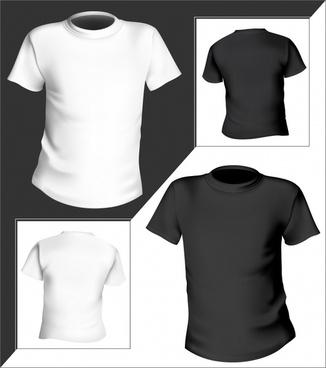 tshirt templates 3d modern black white decor