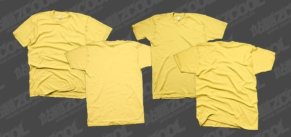 tshirt yellow blank trend template psd layered - T Shirt Template Psd Free Download
