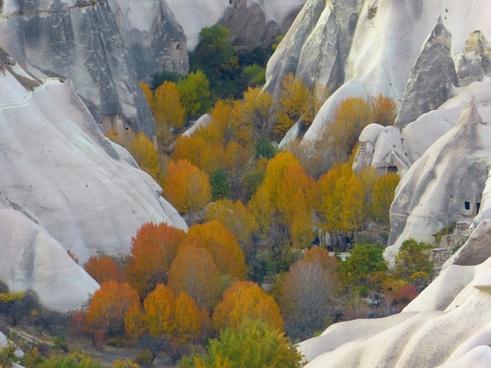 tufa rock formations cappadocia