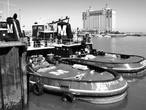 tug boats at deck
