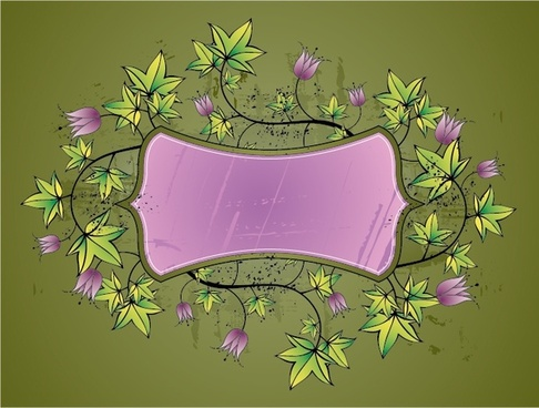 decorative background template classical violet green flowers decor