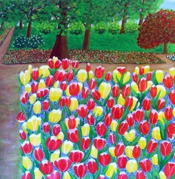 tulips flowers park