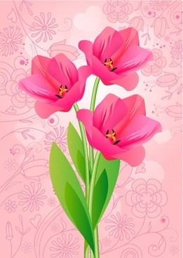 tulip background bright colorful modern design