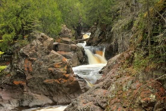 tumbling river at cascade river state park minnesota
