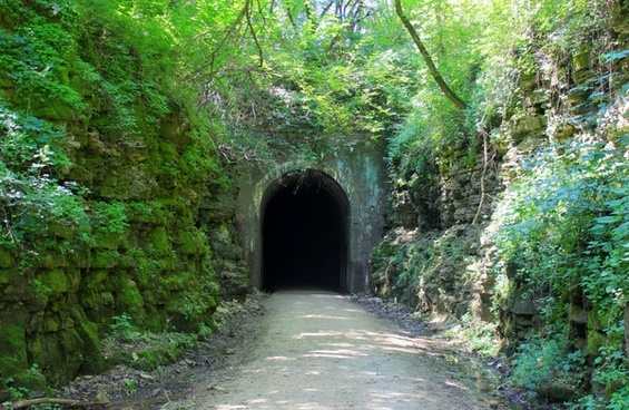 tunnel entrance on the badger state trail wisconsin