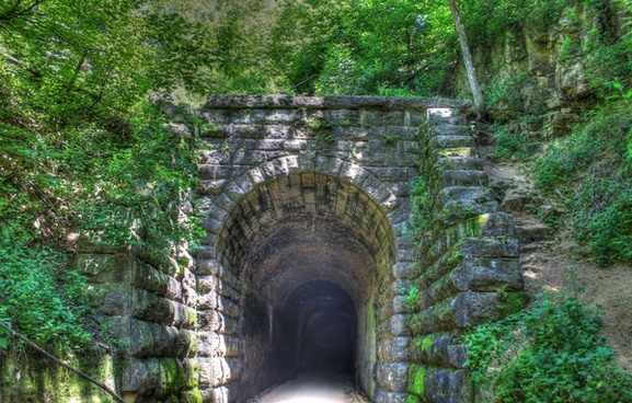 tunnel exit on the badger state trail wisconsin