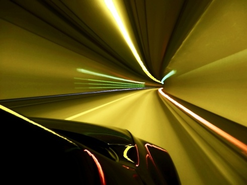 tunnel light speed
