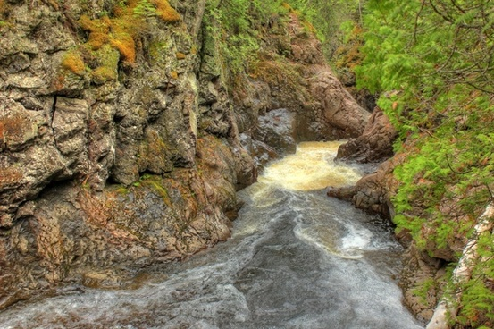turbulent waters at cascade river state park minnesota