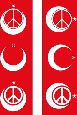 Turkish Peace clip art