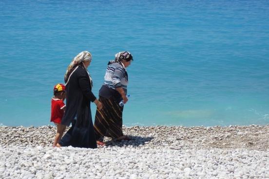 turkish women on beach