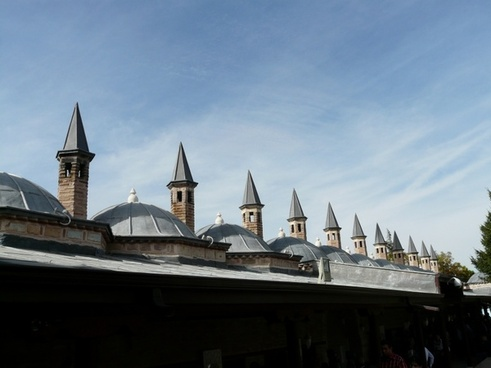 turret roofs mosque