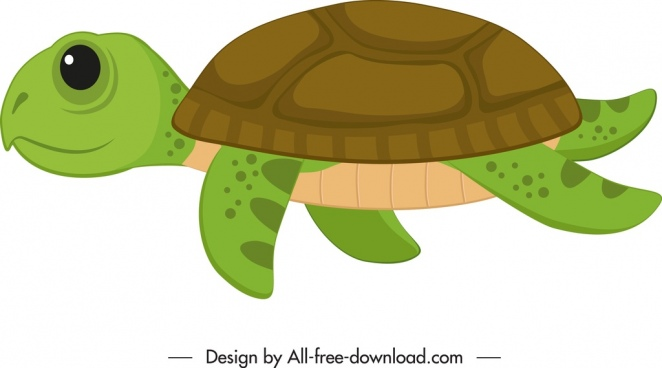 turtle icon cute colored cartoon sketch