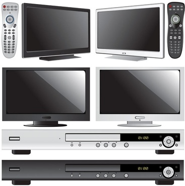tv and dvd player vector