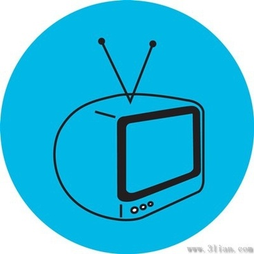 tv icon dark blue background vector