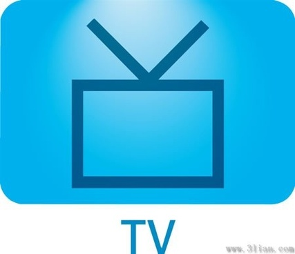 tv icon dark blue vector