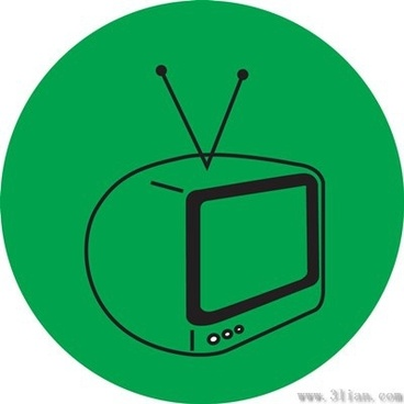 tv icon vector green background