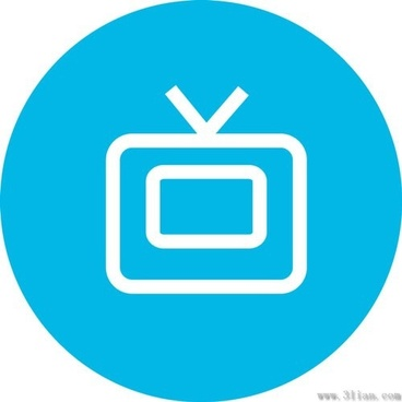tv small icon vector