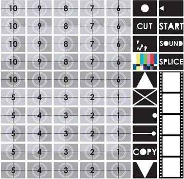 tv test screen vector