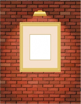 decorative background brick wall painting frame icons