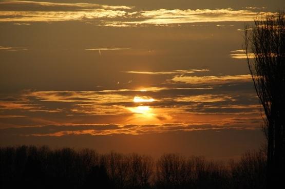 twilight evening sunset