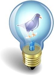 Twitter bulb purple