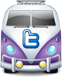 Twitter bus purple